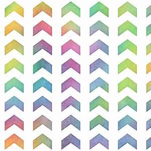 Bright Rainbow Watercolor Split Chevron Pattern 2 fabric ...