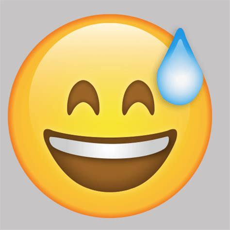 sweating emoji vinyl wall decal decalbuycom