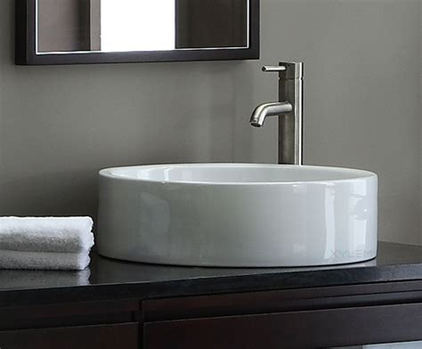round vessel sink vanity round vitreous china vessel sink from xylem group