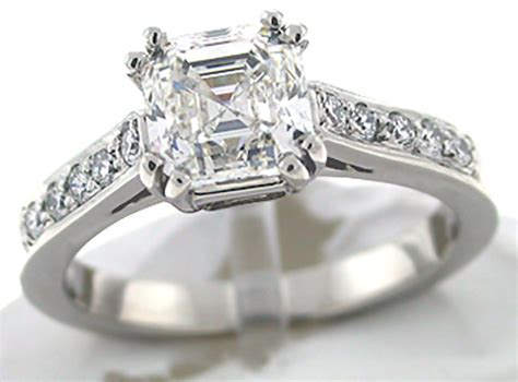 asscher cut engagement rings timeless and classic black