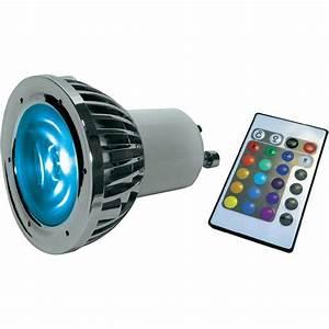 Ampoules A Baionnette Couleur : ampoule led gu10 lumihome rgb 10p 5 w x l 48 mm x 60 ~ Edinachiropracticcenter.com Idées de Décoration