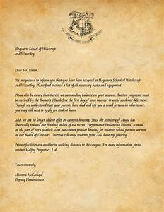 harry potters acceptance letter With harry potter school letter