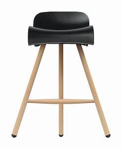 Tabouret De Bar Pied Bois : tabouret de bar bcn wood h 66 cm pieds bois noir ~ Melissatoandfro.com Idées de Décoration