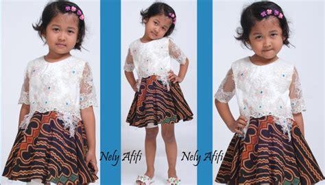 model baju batik anak perempuan modern  cantik