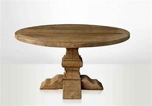 Table En Bois Massif Ancienne : table ronde en bois table en bois ronde table ronde bois table de ferme table de ferme ~ Teatrodelosmanantiales.com Idées de Décoration