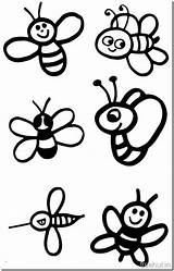 Bee Coloring Pages Cute Bees Children Minecraft Swati Years sketch template