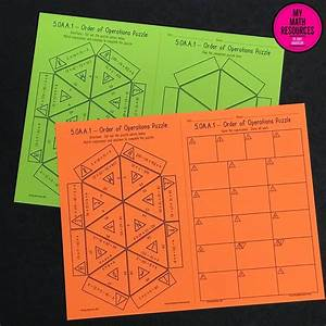5th Grade Order Of Operations Triangle Puzzle  U2013 Ccss 5 Oa