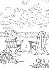 Seashore sketch template