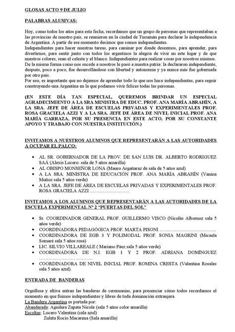 glosas acto 9 de julio 1 by alejandra villa issuu