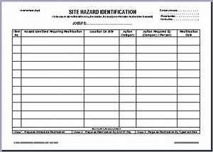 ohs documents australia report forms With hazard risk register template
