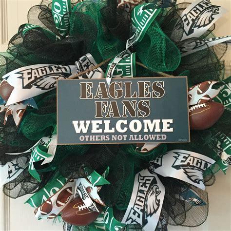 philadelphia eagles mesh wreath football wreath fall