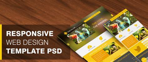 theyalow  responsive web design template psd