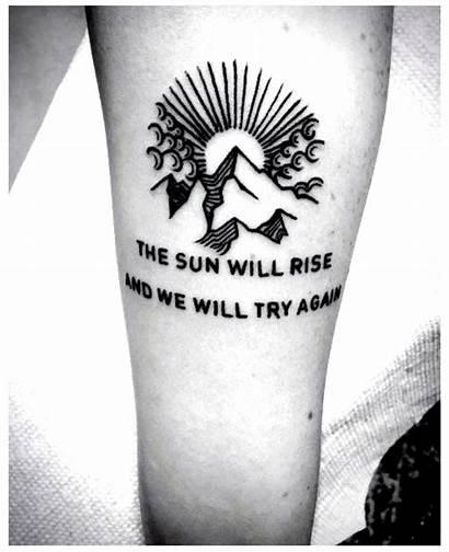 Minimalist Tattoo Mountain