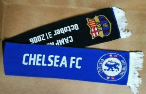 Chelsea FC vs Barcelona Match Day Football Scarf Scave ...