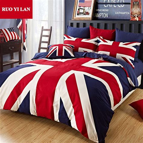 100% Cotton Union Jack Duvet Cover Set The Union Flag