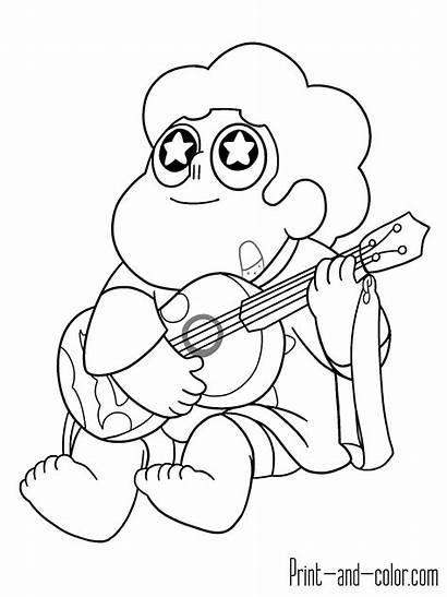 Steven Universe Coloring Pages Guitar Printable Quartz