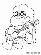 Steven Universe Coloring Pages Guitar Printable Quartz Info Popular sketch template