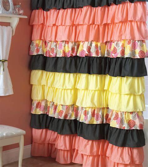 Ruffle Shower Curtain - ruffle shower curtain joann jo