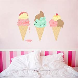 Ice Cream Printed Wall Decal