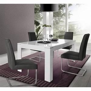 Table 16 Personnes : slate table manger extensible 6 8 personnes 160 206x90 cm blanc brillant achat vente ~ Teatrodelosmanantiales.com Idées de Décoration