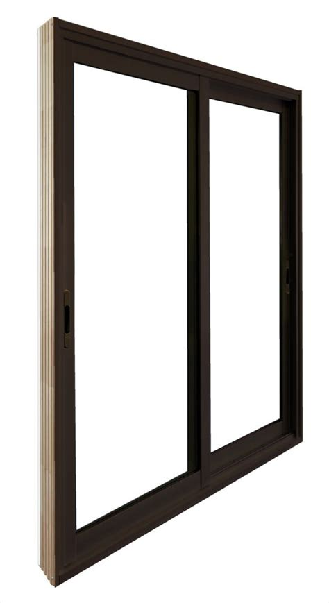 stanley doors 60 inch x 80 inch brown sliding patio