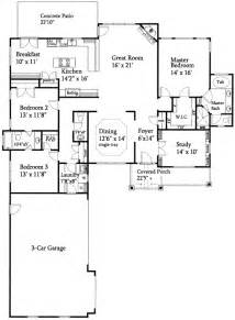 ranch floor plan open floor plan split ranch 24352tw architectural