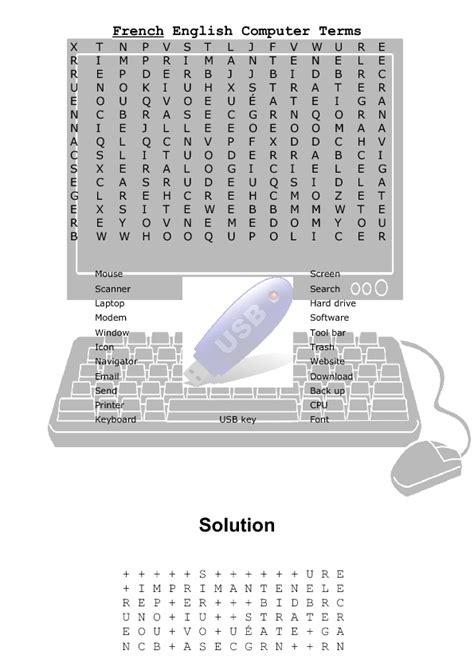 worksheets computer worksheets for middle school