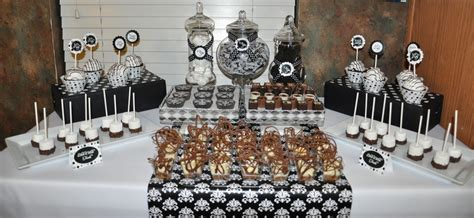 black and white party table centerpieces the party wall black white party