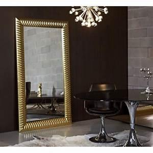 Miroir Mural Design Grande Taille : hall grand miroir mural finition or achat vente miroir pu polyur thane carton cdiscount ~ Teatrodelosmanantiales.com Idées de Décoration