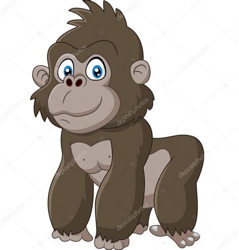 Desenho de gorila bebê fofo Vetores de Stock
