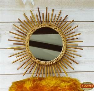 Petit Miroir Rotin : d co vintage miroir soleil en rotin osier bambou ann es 60 sur ~ Melissatoandfro.com Idées de Décoration
