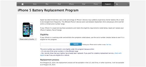 iphone replacement program iphone 5 battery replacement program apple gazette