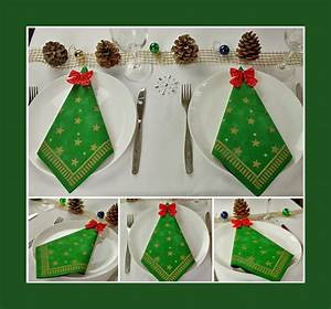 Servietten Falten Zu Weihnachten : servietten falten tannenbaum deko ideen ~ Orissabook.com Haus und Dekorationen