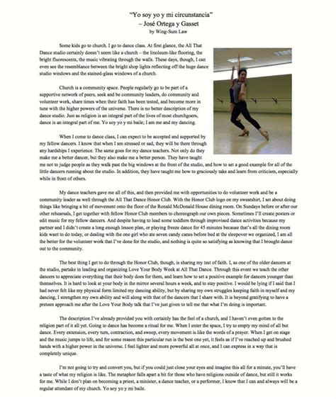 essay  dance sample critique examples art  critical thesis  introduction