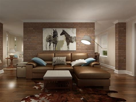 Cowhide Rug In The Family Room.