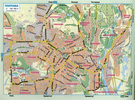 Карта Полтавы   Карта Украины