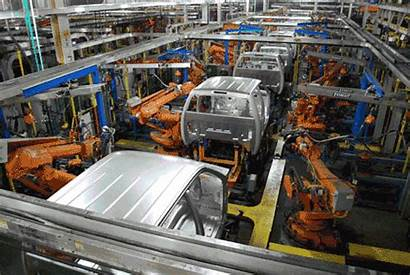 Gm Automation Plant Assembly Line Factory Production