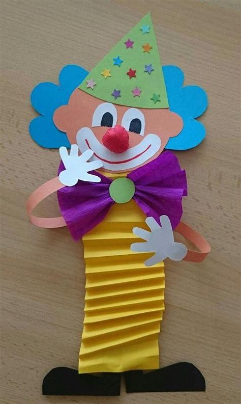 faschingsdeko basteln mit kindern clown basteln mit kindern zu fasching vorlagen ideen