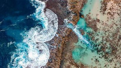Ocean Eye Beach Hawaii Above Waves Bird