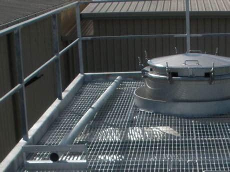 steel grating  floor walkway  roof green roof