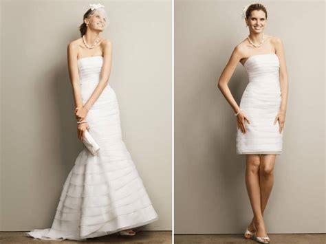 davids bridal    strapless wedding dress mermaid