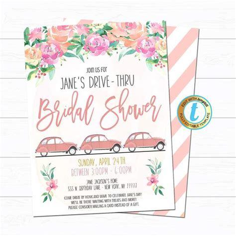 Drive By Birthday Parade Invitations TidyLady Printables