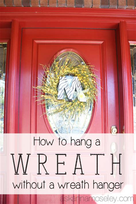 how to hang a wreath on a door how to hang a wreath on a glass door ask