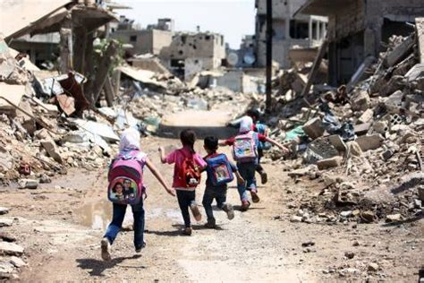 southern syria destroyed schools leave students