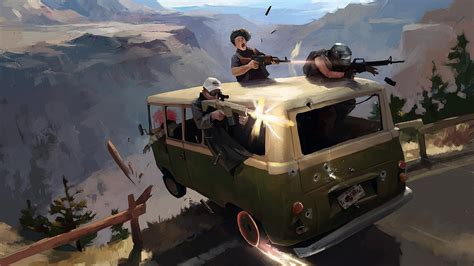 pubg minibus attack  hd games  wallpapers images