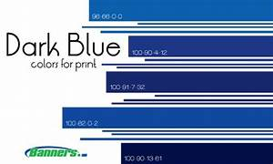 CMYK Dark Blue Colors for Printing Banners #cmyk #blue # ...