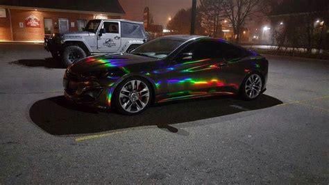 dope ass black holographic chrome wrap    buddies