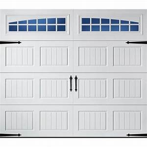 Shop pella carriage house series 96 in x 84 in insulated for 12 foot garage doors for sale
