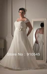 hot sell a line cap sleeve chiffon fashion plus size With selling a wedding dress
