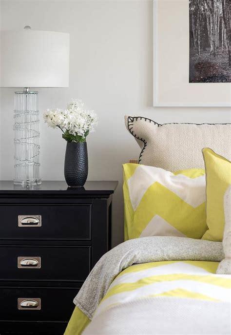 yellow  black bedroom  yellow chevron bedding